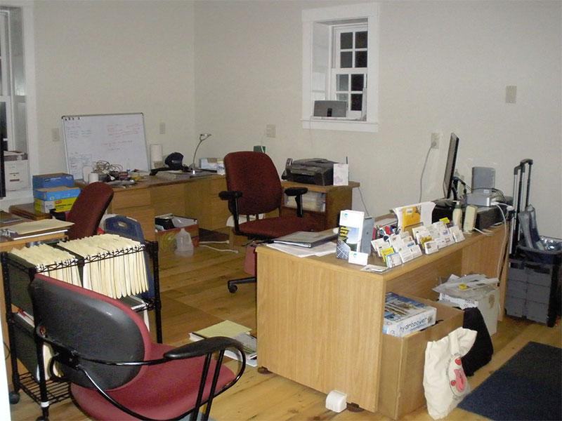 Ett rörigt kontor